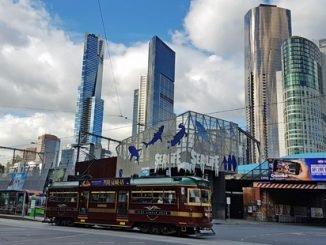 Historische Straßenbahn in Melbourne
