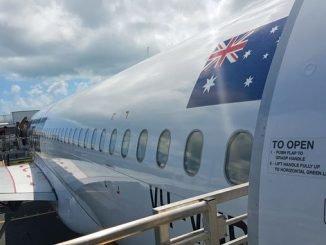 Mit dem Flugzeug nach Australien