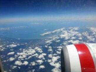Mit Qantas über den Wolken Australiens