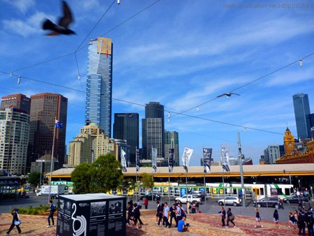 Federation Square und Eureka Tower, Melbourne
