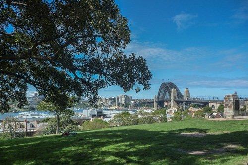 Sydney, Australien vom Observatory Hill aus gesehen