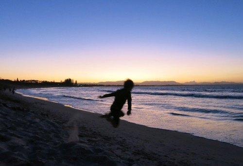 Sonnenuntergang am Strand in Australien