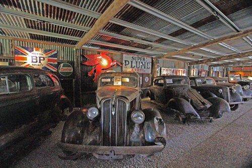 Historische Autos in Herberton, Atherton Tablelands bei Cairns