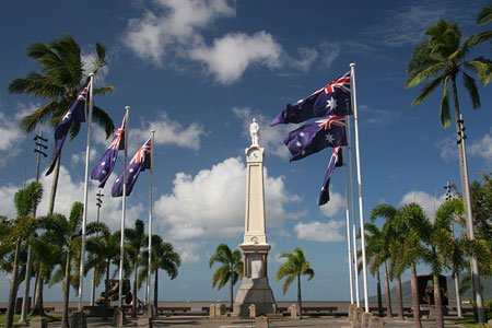 Australische Flagge in Cairns