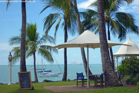 Aussichten vom Coral Sea Resort, Airlie Beach