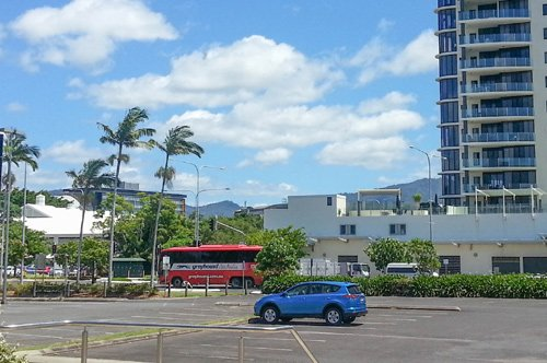 Greyhound Bus in Cairns